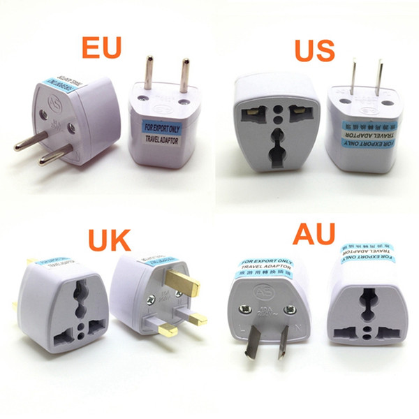 best selling Universal US UK AU To EU Plug USA To Euro Europe Travel Wall AC Power Charger Outlet Adapter Converter Socket DHL