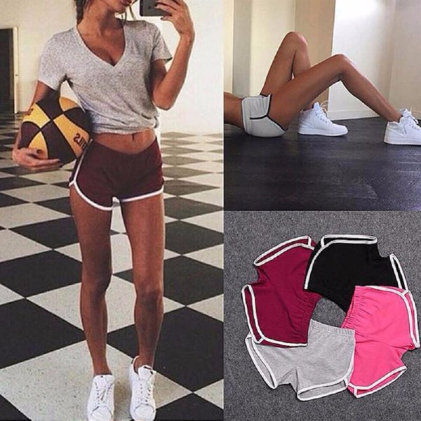 Breathable Summer Yoga Shorts Gym Running Women Sport Shorts Fitness Clothing Workout Short Leggings Plus Size 4 Colors #75030