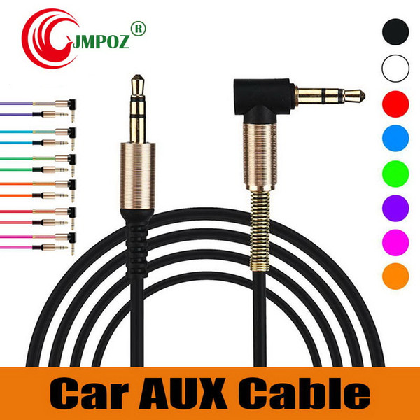 Best seller 3.5mm Male To Male Right Angle Auxiliary Car Stereo Audio AUX Cable Metal for Phones Car iphone Headphones