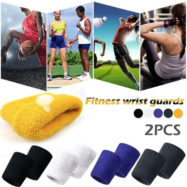 2PC/Pack Tower Wristbands Sport Basketball Equipment Running Fitness Sports Wrist Guard Towel Bracers Wrist Protective Gear #280325