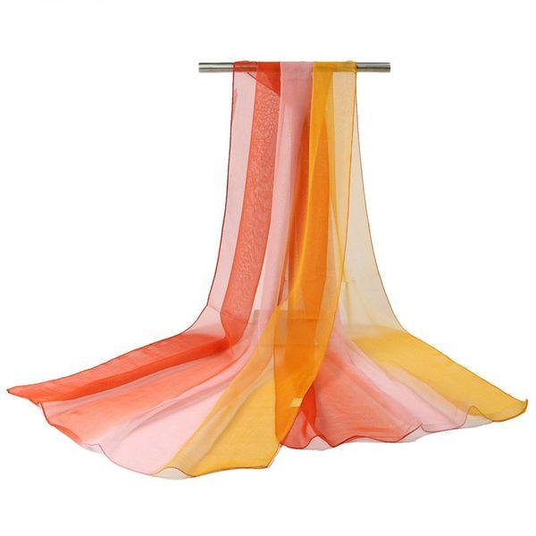 18 Dégradé de couleur Mode en mousseline de soie écharpe Femmes Long Wraps de Châles Lady printemps Echarpes Automne Taille Plus Bandana Hijab