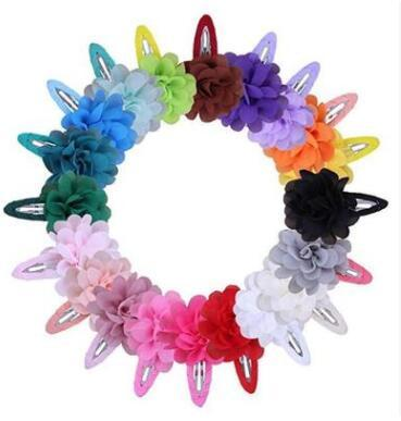 22 colors Korean flower candy color hairclip baby girls star fashion cloth BB hairpin cute hair accessories