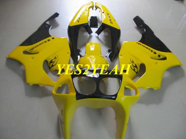 Custom Motorcycle Fairing body kit for KAWASAKI Ninja ZX-7R ZX7R 1996 2003 ZX 7R 96 97 02 03 Yellow Fairings bodywork+gifts KZ20
