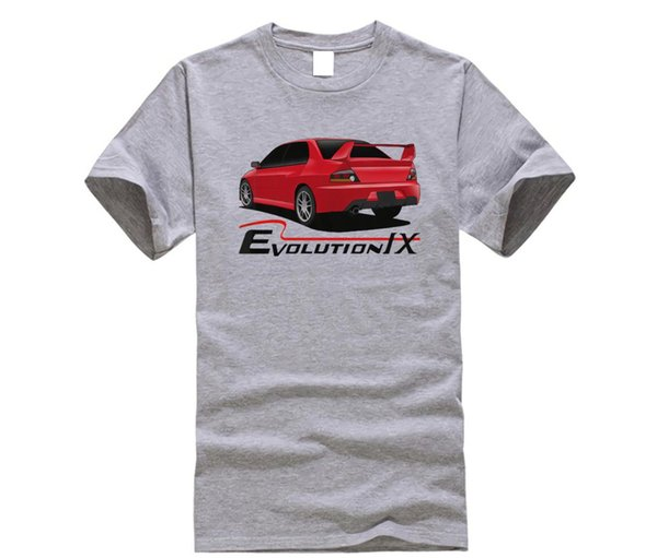 Maglietta Cool estiva 2019 Lancer Ralliart Evolution IX Maglietta Jdm bianca o grigia Evo 9 Rally Funny Tee Shirt