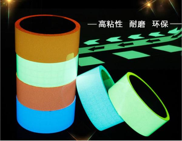 best selling 1.5cm*10M Stored Luminous Sticker Self-adhesive Glowing Night  Dark Safety Stage Striking Warning Safety Tape