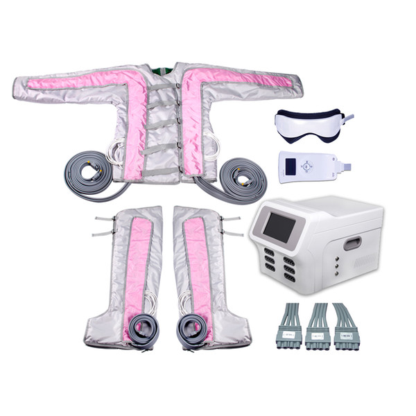 New pink color 24 cells heating body shaper pressotherapy salon use Infrared Operation System body slimming clothes machine