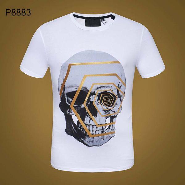 Летняя футболка Марка мужской О-образным вырезом мода печати с коротким рукавом футболка #2055 PP мужчины футболка хип-хоп тройник топы высокого качества
