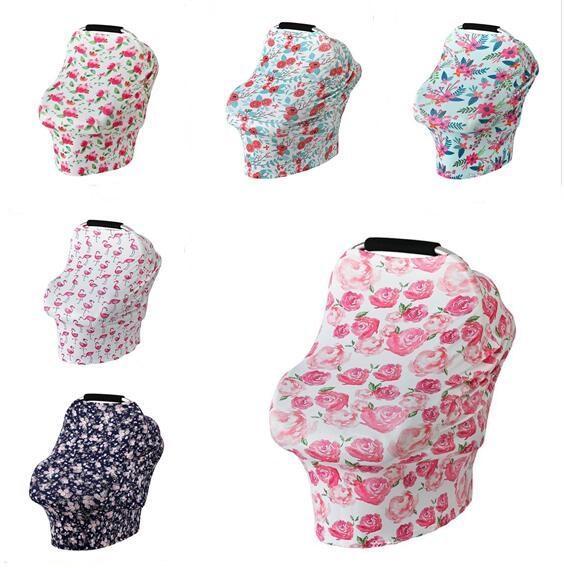 Écharpe d'allaitement pour bébé, siège de voiture auvent couvert pour bébé, cape multifonction pour l'allaitement maternel 11 couleurs