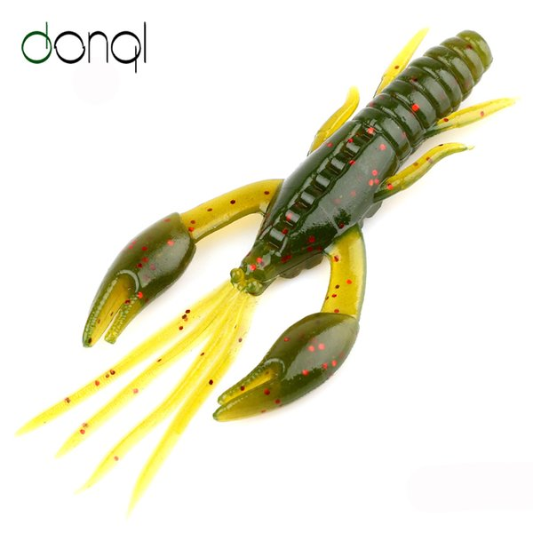 smelt fishing lures Canada - Lures DONQL 20Pcs Shrimp Fishing Lures Soft Silicone Artificial Bait Swimbait 50mm 1.6g Fishy Smell Fishing Tackle Silicone Soft Lure