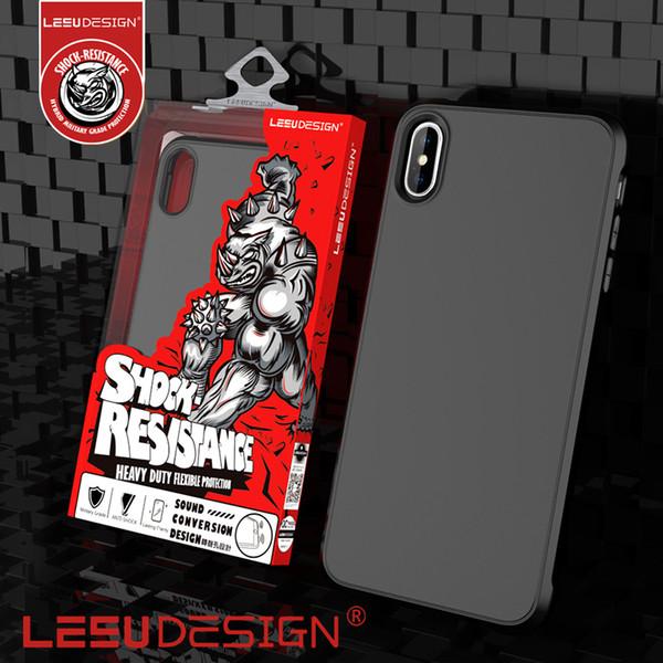 Leeu de ign new luxury matte hockproof tpu anti hock protective mobile  phone cover ca e ca e for iphone xr x max 5 8 6 1 x 6 7 8 8 plu