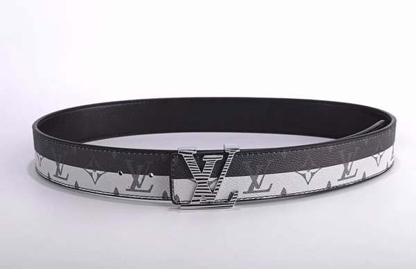 Famous Brand good Skin Waist For Men Casual L Classic smooth buckle Cow Skin Waist Business type leisure leather Are men and women's belt