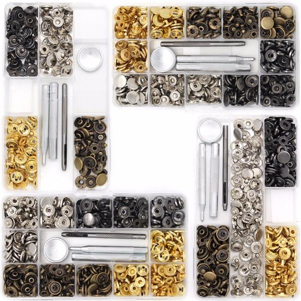 Druckknopf Kit Button Tool Druckknöpfe Set Kleidung Snaps Fixing Tool 633 # 4 Farben für Lederhandwerk Reparatur Dekoration
