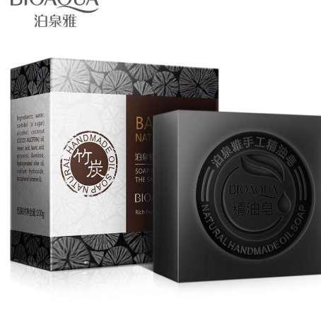 New Whitening Soap Bamboo Charcoal Handmade Soap Treatment Skin Care Natural Whitening Blackhead Remover Acne Oil Control