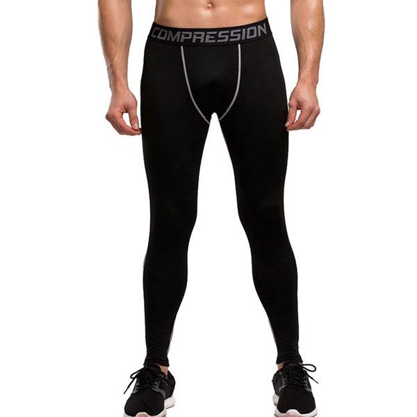 LAAMEI Fit Slim Men Running Tights High Elastic Compression Sports Leggings Quick Dry Skinny Pant Gym Socks Plus Size Leggins