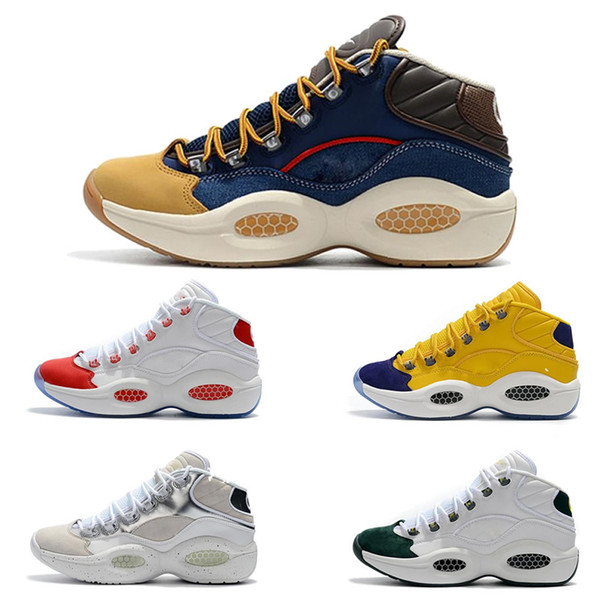 top popular Allen Iverson Question Mid Q1 Basketball Shoes Answer 1s Zoom mens running Athletic shoes Elite Sport shoes Sneakers designer shoe 40-45 2019