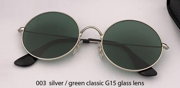 003 silver/G15 glass lens