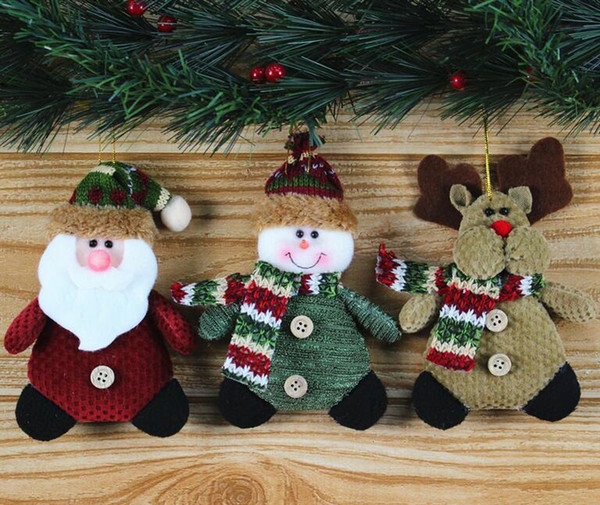 Christmas Tree Hanging Ornament Santa Claus Snowman Reindeer Doll New Year Decoration Ornament Best Christmas Gift