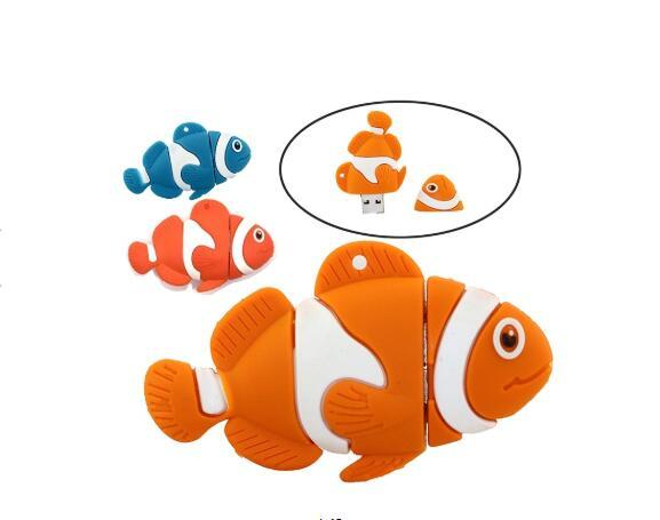 Lovely Fish Usb Flash Drive Pendrive 512M-64GB Little Animal Pen Drive Memory Stick Cartoon USB 2.0