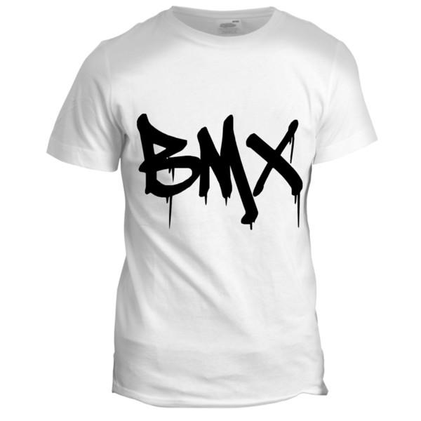 BMX Bike Mens Dad Lads Urban Graffiti Cool Retro Hipster Motorbike T Shirt