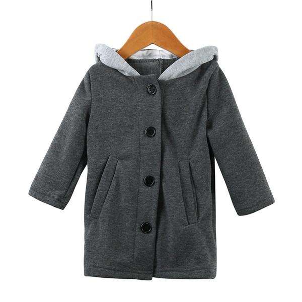 Bebek Kız Giyim Çocuk Sonbahar Ceket Çocuklar Kapüşonlu Tavşan Kulak Ceket Kızlar için Giysi Yeni Moda Çocuklar Kış Giysileri