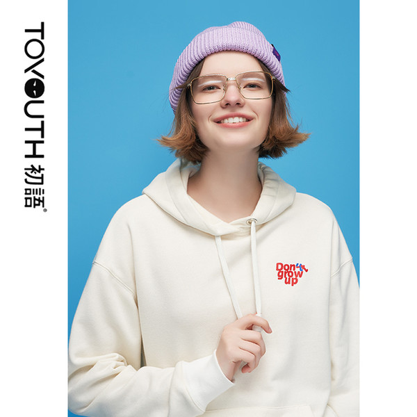 Toyouth Autumn Sweatshirt Casual Character Soild Hoodies Women Tops Korean Style Loog Sleeve Tracksuits For Female Y190823