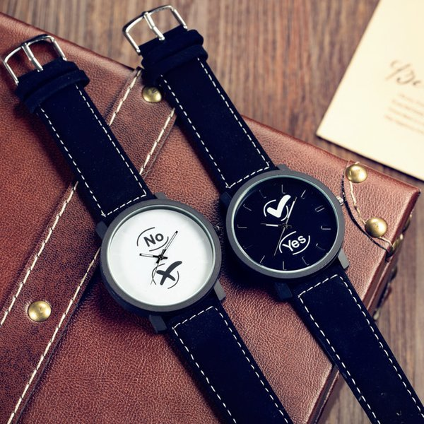 Korean version of Harajuku style neutral retro casual male and female students tide watch fashion popular couple watches