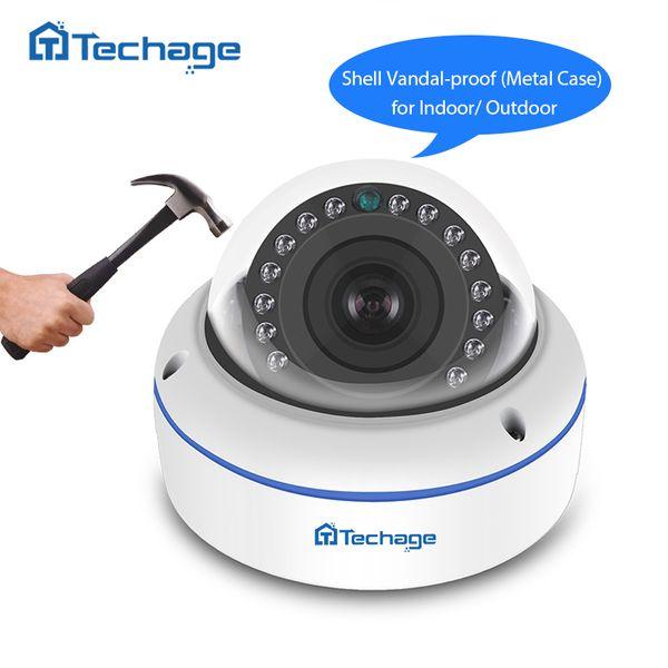 ip Techage 1080 2MP VandalProof Indoor Dome 48V POE IP IR P2P Onvif Video CCTV Security Surveillance Audio Record Camera