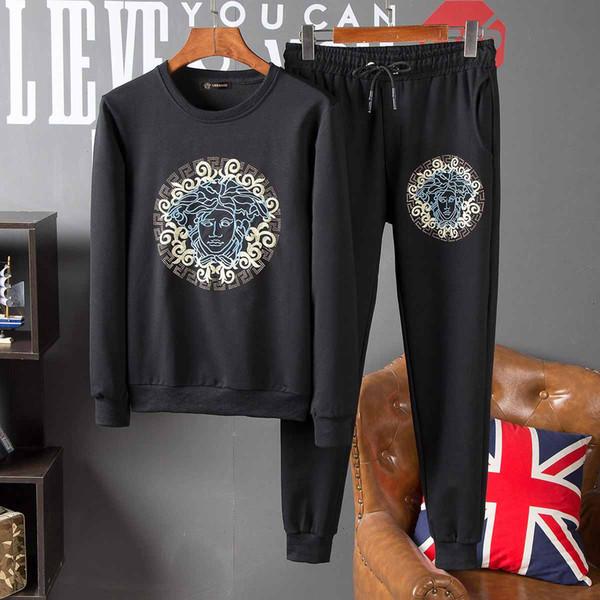 Autumn/winter sportswear men's wear brand designer outerwear jacket and pantsuit mark fashion autumn cardigan men's hoodie sweatshirt zipper