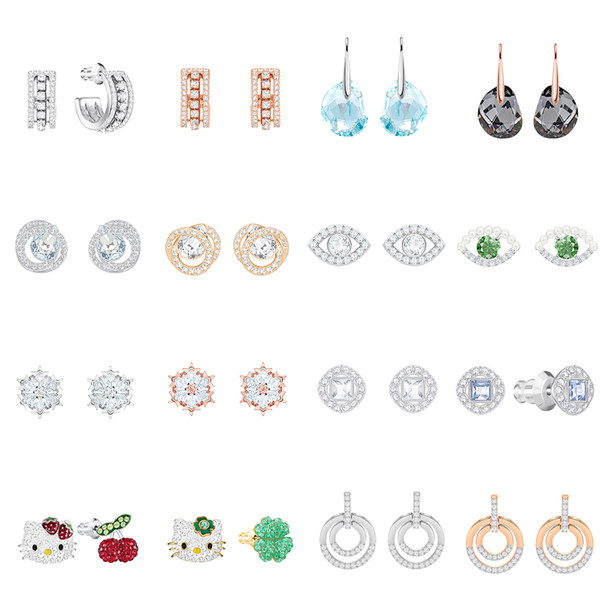 FAHMI SWA ANGELIC CIRCLE FURTHER GALET PIERCED GENERATION LUCKILY MAGIC Snowflake Devil's Eye Fashion Pierced Earrings Women's Jewelry