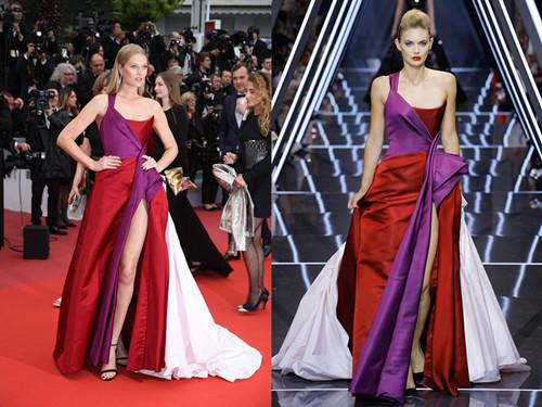 Colorful Satin A Line Formal Evening Dresses 2019 Sexy Backless Front Split Plus Size Prom Party Occasion Gowns Cheap Custom Made