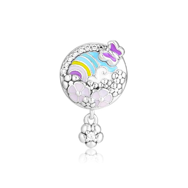 Woman Beads Flower Colour Story Charm Spring Garden Beads For Jewelry Making Fits Original Bracelets Sterling Silver Jewelry Charm