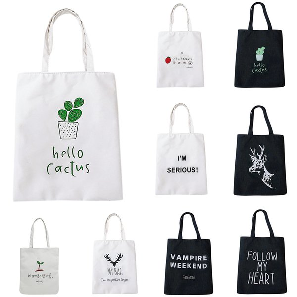2019 Women Shoulder Bag Designer Women Fashion Canvas Bag Female Art Student Large-capacity School High Quality çanta#8