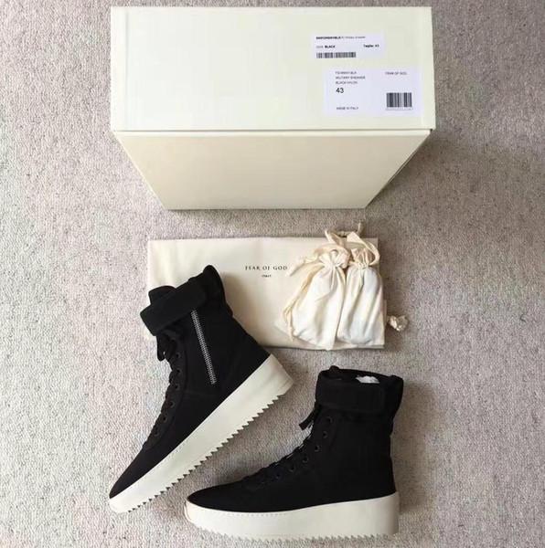 En iyi Kalite tanrı Korkusu En Askeri Sneakers Yüksekliği Ordu Çizmeler Erkek ve Bayan Moda Ayakkabı Martin Çizmeler