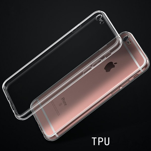 Mobile phone case iphone7/8 PLUS TPU cover transparent soft shell cell phone cover rope hole cellphone accessories wholesale with free ship
