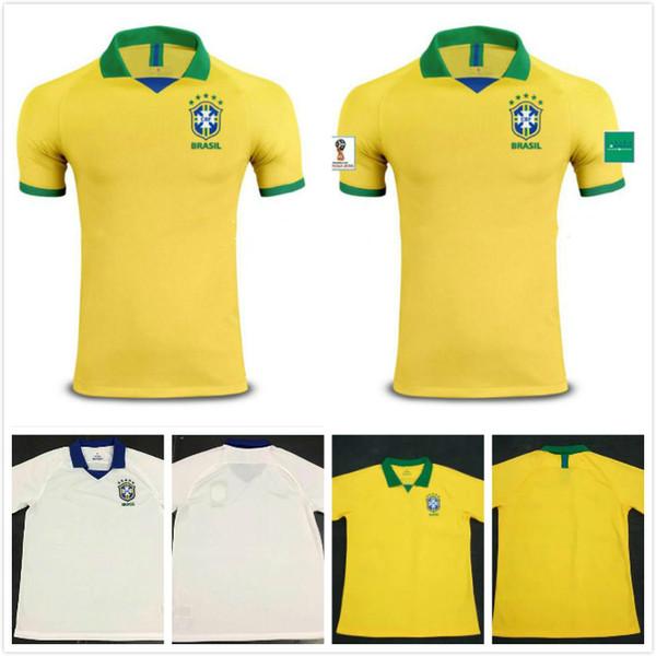 2019 20 Brasil futbol formaları erkekler Brezilya Forması 2019 2020 İSA COUTINHO FIRMINO MARCELO futbol takımı gömlek camisa Futbol Gömlek G. JESUS