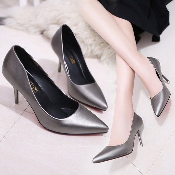 Sharp Mouth Shallow Honor2019 High With Women's Shoes Autumn Set Foot Ma'am Single Shoe England Wind