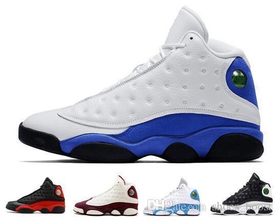 Hommes 13 Chaussures de basketball Baskets 13s Sport Blé Hyper Histoire royale de Vol Altitude Amour Respecter Chat Noir Dmp Gris Toe Bred Hologram