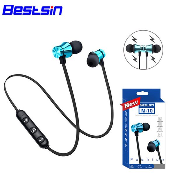 Bestsin M10 Kablosuz bluetooth 4.1 kulaklık Stereo Kulaklık Spor Kulak Kulaklık Mikrofon Koşu Iphone XS Iphone XR Iphone XSMAX