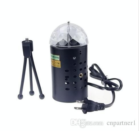 US EU 110 V 220 V Mini Laser Projektor 3 watt Licht Vollfarbe LED Kristall Rotierenden RGB Bühne Licht Party Stage Club DJ ZEIGEN