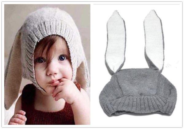 Cute Rabbit Ears Kids Baby Boy Girl Warm Beanie Infant Toddler Knit Hat Cap