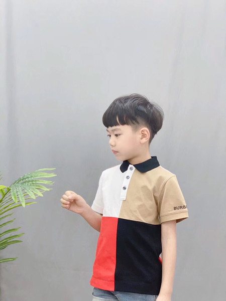 best selling 2020 New Children's Summer Cotton Short Sleeved Shirt Baby Boys Girls Solid Color Polo Shirt Kids Brand Polo Clothes Ou