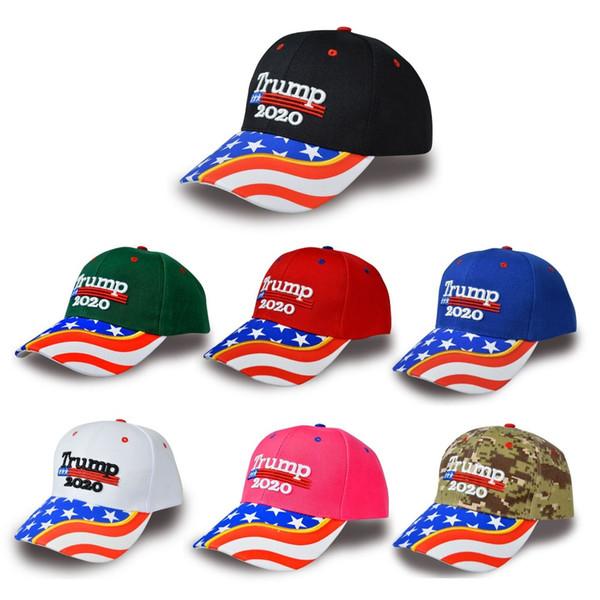 Fashion Donald Trump Baseball Hat Camouflage Keep America Great 2020 President Election Trump Hat Travel Beach Sun Ball Cap TTA1471