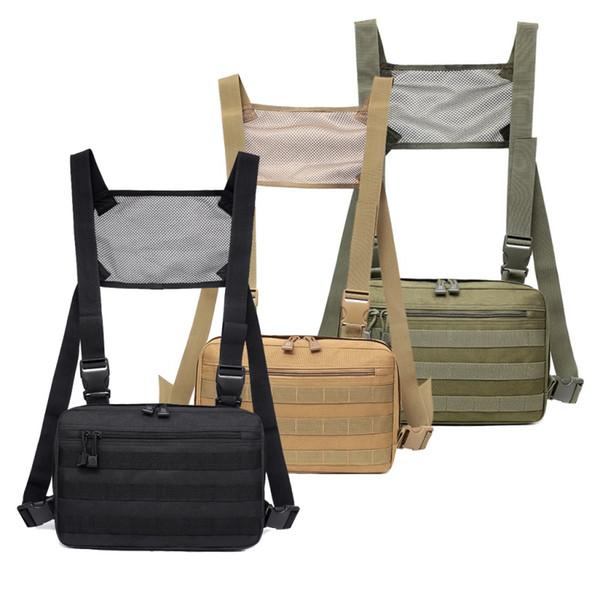 1000d nylon outdoor men hunting vest bags adjustable multifunctional tactical chest rig shoulder waist packs bags vest thumbnail