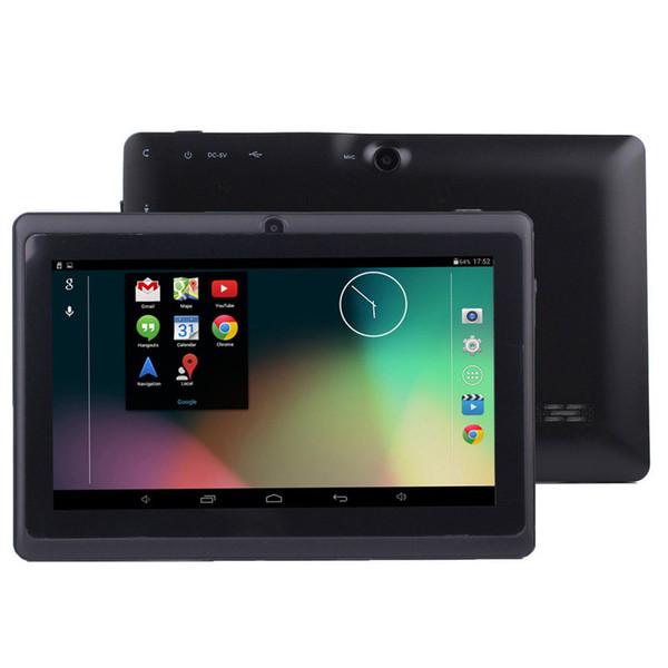 7-дюймовый планшетный ПК wifi 512MB RAM и 8GB ROM Allwinner A33 tablet Quad Core Android 4.4 емкостный планшетный ПК двойная камера Q88