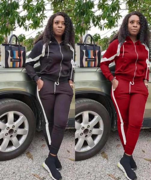 Womens outfits conjunto 2 pedaço mangas compridas agasalho leggings calças casaco cardigan cair fatos de jogging Esportes Sportswear klw3079 hot sexy
