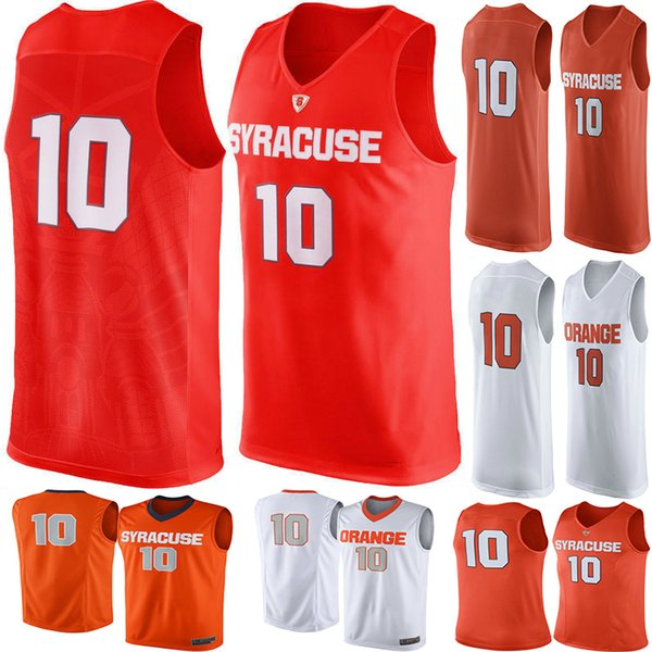 2019 No 10 Syracuse Orange Men College Basketball Jersey Embroidery Athletic Outdoor Apparel Mens Sport Jerseys Size S 3xl From Basketballjersey 1