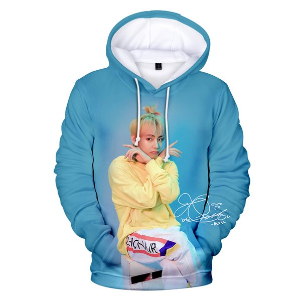 New 3D Print Hoodies BTS Men Women Pop Hip Hop Boy Girl Sweatshirt BTS 3D Hoodie Korean Sweatshirt Fashion