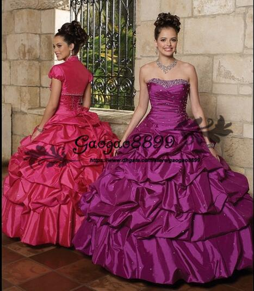 2019 masquerade Ball Gown Quinceanera Dresses with overskirt taffeta Ruffles sweetheart floor length Prom sweet 16 ball gown Dress Vestidos