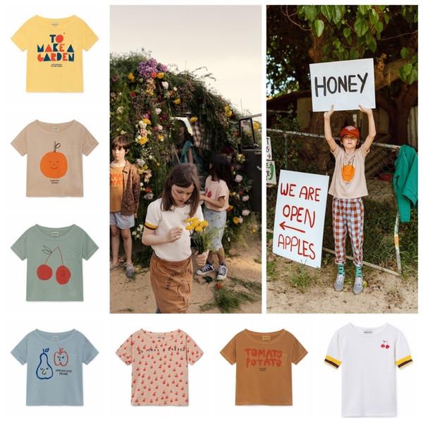Boys T Shirt Kids T-shirts 2019 Ss Girls Tops Short Sleeve T Shirts Summer Tees Stripe Beach Vest Children Clothing J190511
