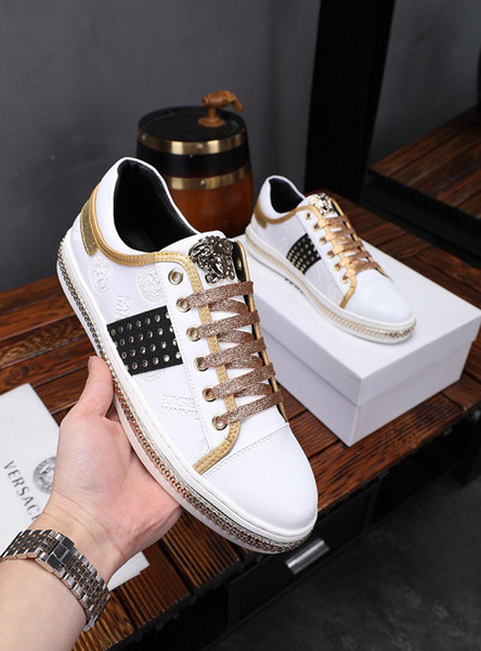 2019v luxury designer casual men's shoes, fashion outdoor men's sports shoes, original packaging shoe box delivery, yardage: 38-45